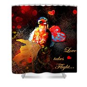 Love Takes Flight Shower Curtain