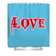 Love Text Shower Curtain