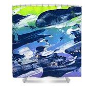 Love Those Diagonals - Purple 2 Shower Curtain