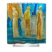 Love Triangle Shower Curtain