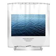 Love What Is Simple Shower Curtain