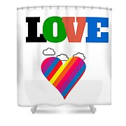 Love What You Do Shower Curtain
