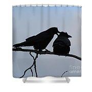 Love Whispering Shower Curtain
