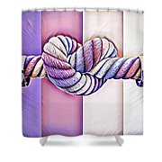 Love Wins/fields Shower Curtain