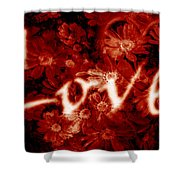 Love With Flowers Shower Curtain