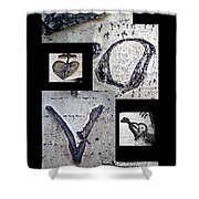 Love Written In The Trees 4 Shower Curtain