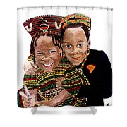 Love You Sister Love You Brother Shower Curtain