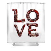 Love You To Death Shower Curtain