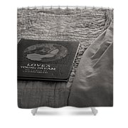 Love Young Dreams  Shower Curtain