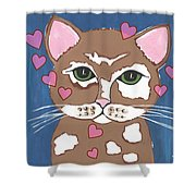 Loveable Cat - Cute Animals Shower Curtain