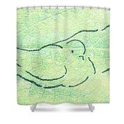 Lovebirds On Green Shower Curtain