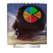Lovehate Relationship Shower Curtain