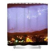 Loveland Colorado Front Range Foothills  Lightning Thunderstorm Shower Curtain