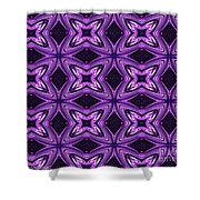 Lovely As A Purple Thought Shower Curtain