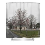 Lovely Day At An Amish Schoolhouse Shower Curtain