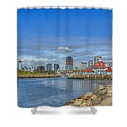 Lovely Day Long Beach Shower Curtain