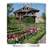 Lovely Garden And Cottage Shower Curtain by Jennifer Ancker