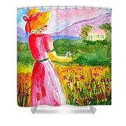 Lovely Lady Landscape Shower Curtain