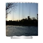 Lovely Light On Mississippi River Shower Curtain