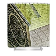 Lovely Patterns Of An Old School Interior Shower Curtain