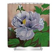 Lovely Peony Flower With Buds Shower Curtain