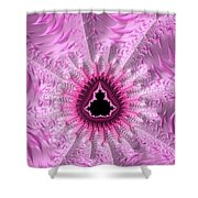 Lovely Pink Fractal Art Shower Curtain