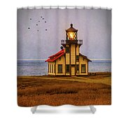 Lovely Point Cabrillo Light Station Shower Curtain