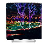 Lovely Sky Shower Curtain