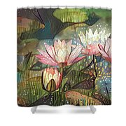 Lovely Waterlilies 7 Shower Curtain