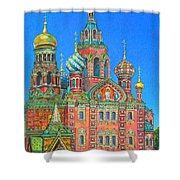 Russian Church Shower Curtain
