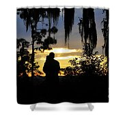 Lover's At Sunset Shower Curtain