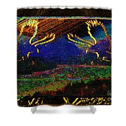 Lovers Dancing In The Golden Light Of Dawn Shower Curtain
