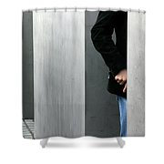 Lovers In Berlin Shower Curtain