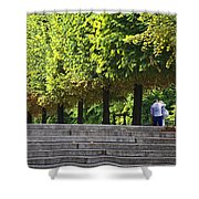 Lovers In The Tuileries Shower Curtain