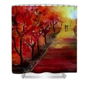 Lovers' Lane Shower Curtain