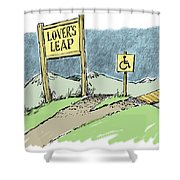 Lover's Leap. Shower Curtain