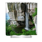 Lover's Leap Waterfall Shower Curtain
