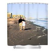 Lovers On The Beach Shower Curtain
