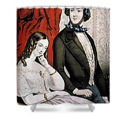 Lovers Quarrel, 1846 Shower Curtain