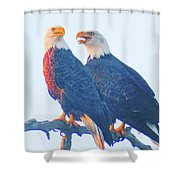 Lovers Quarrel Shower Curtain