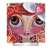 Lovey Dovey Shower Curtain