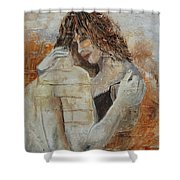 Loving Couple Shower Curtain