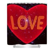 Loving Heart Shower Curtain