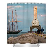 Loving Port Shower Curtain