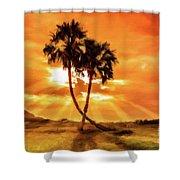 Loving Trees Shower Curtain