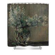 Lovis Corinth Ostpreussen 1858 - 1925 Zandvoort Still Life With White Lilacs. Shower Curtain