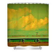 Low And Low Green Building Shower Curtain