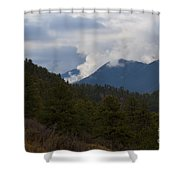 Low Clouds In Ute Pass Colorado Shower Curtain