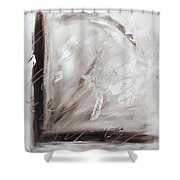Low Cool Abstract Painting Shower Curtain