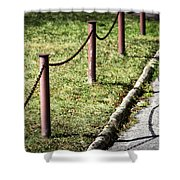 low fence Chain Shower Curtain